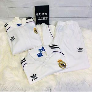 Men's adidas Real Madrid Set Jacket+Pans +Jersey